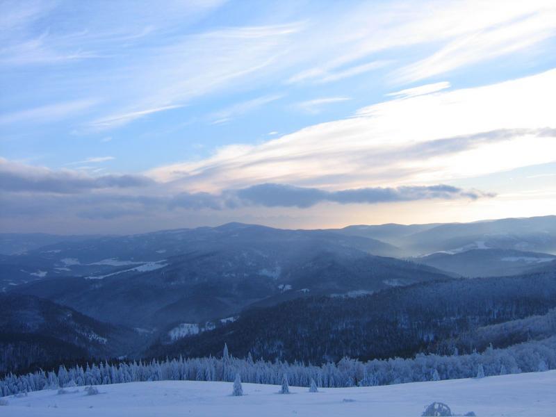 Widok z Tatrami w tle