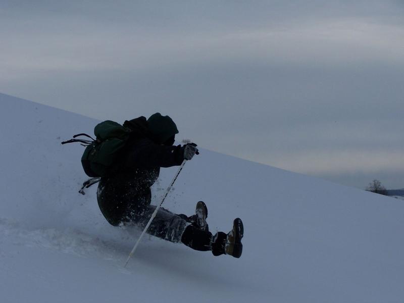 Kiedy śnieg jest bardzo głęboki, lepiej przemieszczać się nad jego powierzchnią. (Z cyklu: Lotem bliżej)