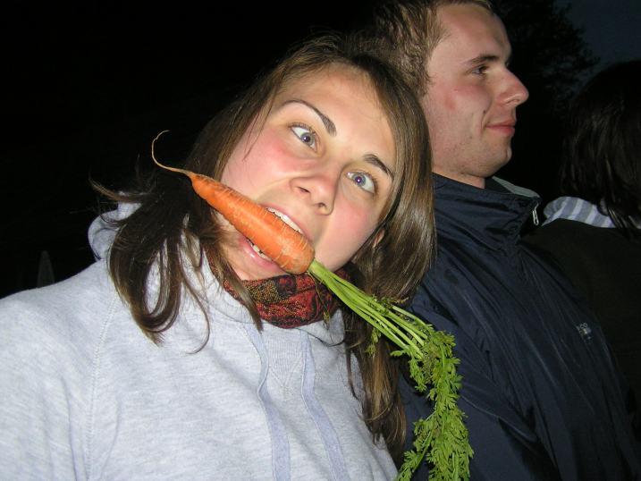 każdy cieszył się z marchewki na swój sposób :D
