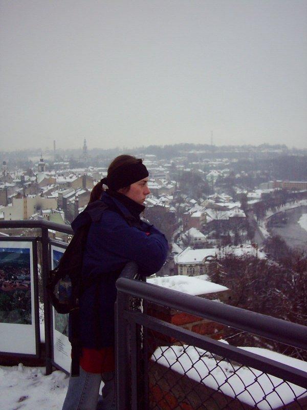 na wieży w Cieszynie