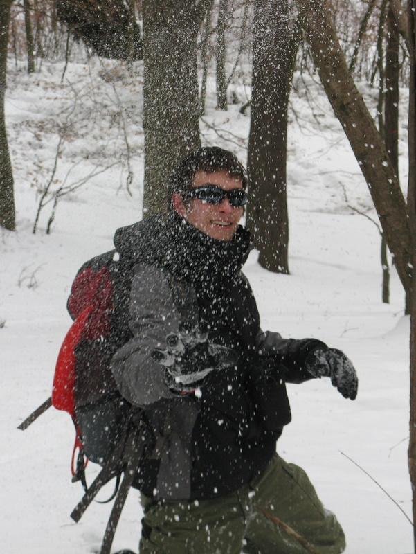 szaman i jego lokalne opady śniegu
