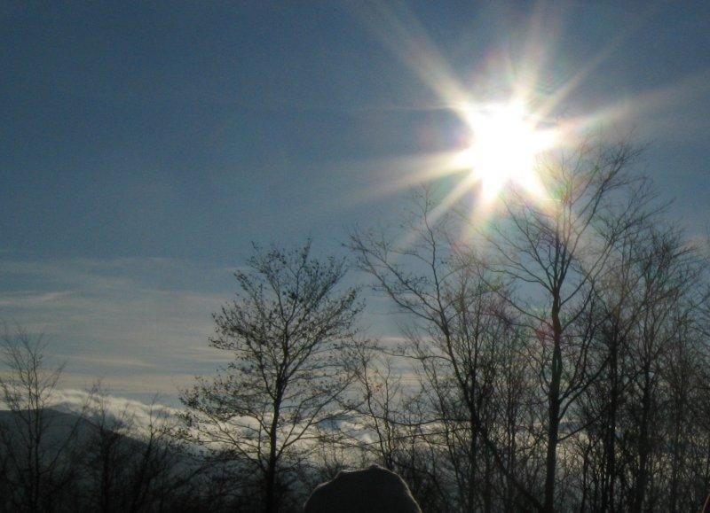 Słoneczna grudniowa pogoda