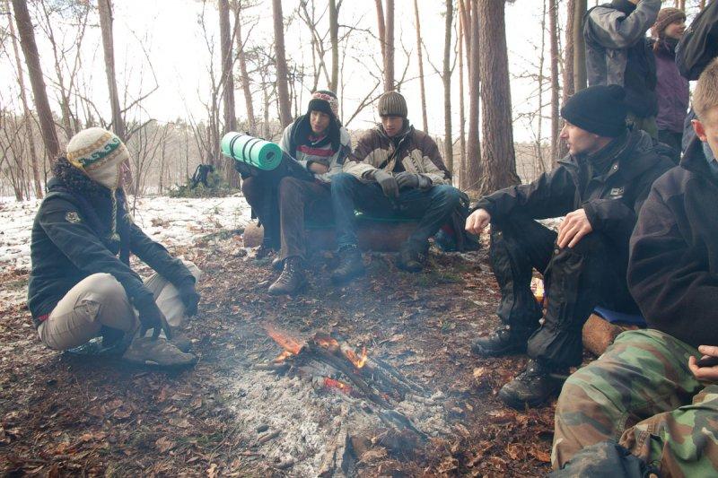 Napotykamy na obóz fifowej ekspedycji namiotowej
