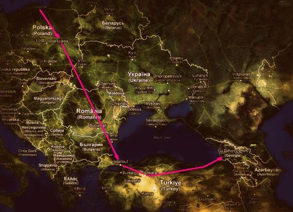 Trasa do Gruzji