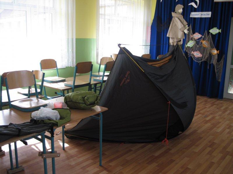 Złaz, tradycyjnie, jest imprezą namiotową