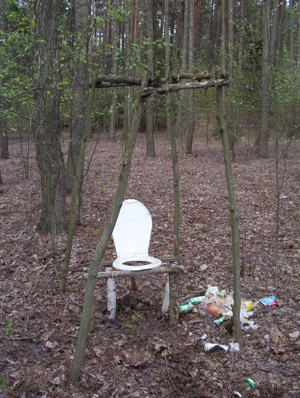 toaleta leśna pełen luksus