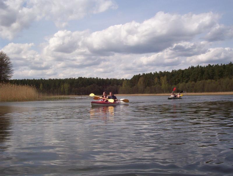wpływamy na jezioro Wdzydzkie