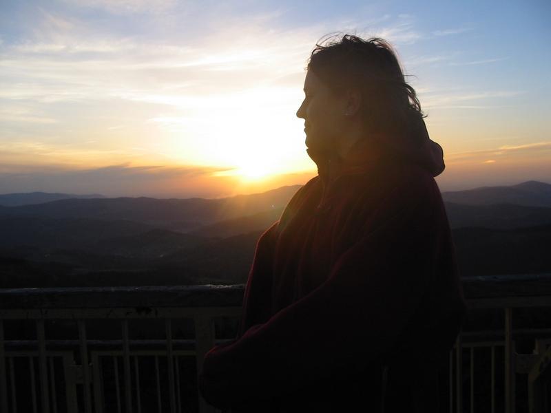 zachód słońca na Baraniej Górze