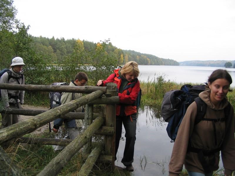 przeprawa przez wodę - jezioro Dąbrowskie