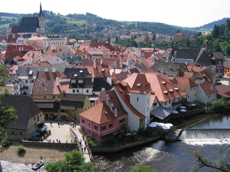 Czesky Krumlov - panorama z zamku