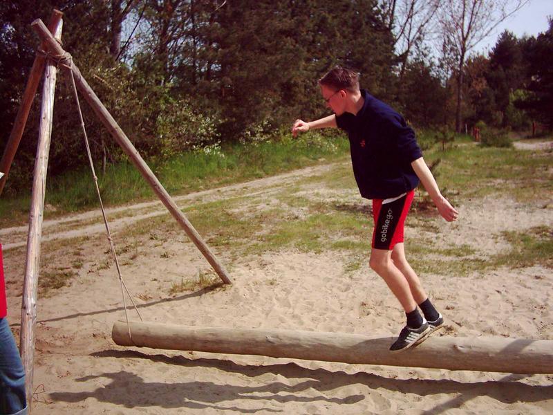 poranne ćwiczenie równowagi