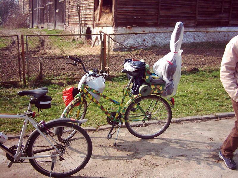 a tutaj stoi sobie rower Daniela