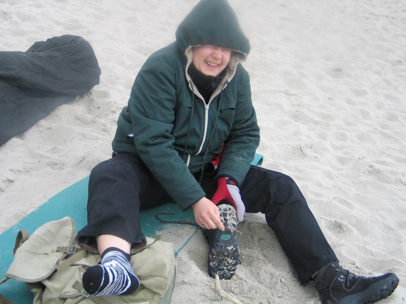 Mam czarne buty na glebie...a głowa sięga nieba..., czyli plaża DZIKA plaża