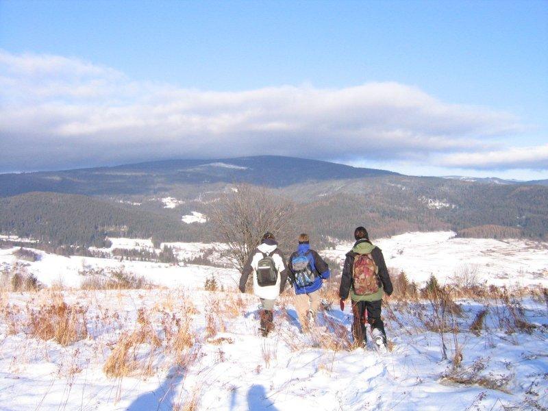 Przed nami Barania Góra ( a szczyrkowcy pewnie juz szczytują :)