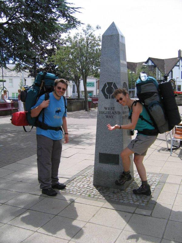 Milngavie - początek West Highland Way