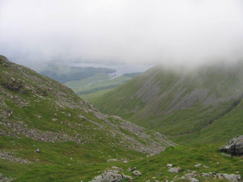 przełęcz pomiędzy Beinn Dorain a Beinn an Dothaidh