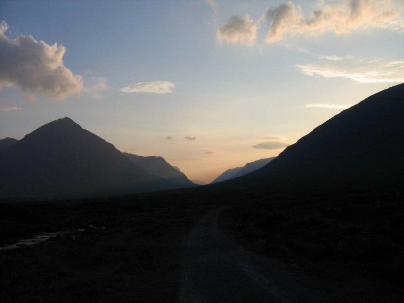 Widok na dolinę Glen Coe