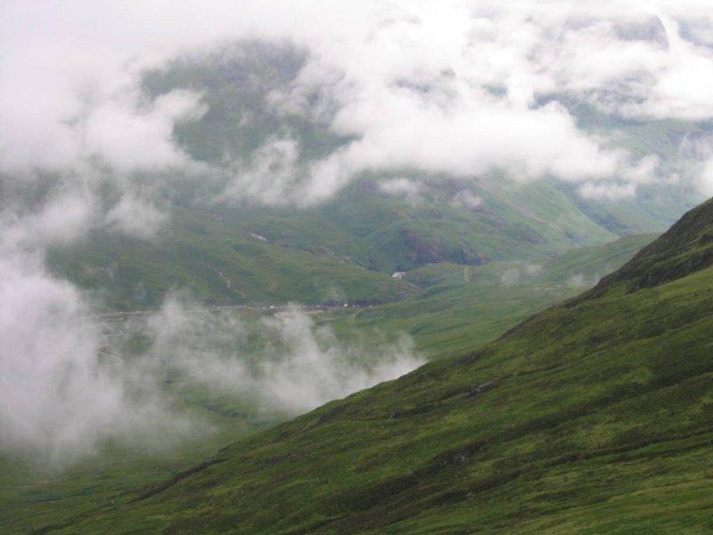 Czasami widać było dolinę Glen Coe