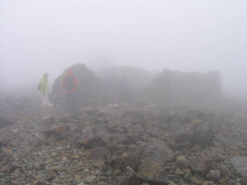 Na szczycie Ben Nevisa można obejrzeć ruiny obserwatorium astronomicznego. Szkoci to jednak optymiści.