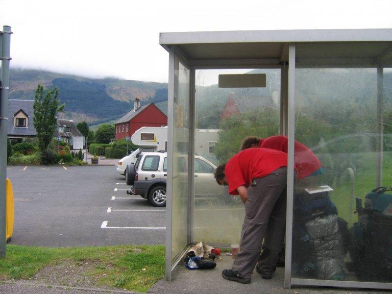 Bardzo pożyteczny przystanek w Glen Coe