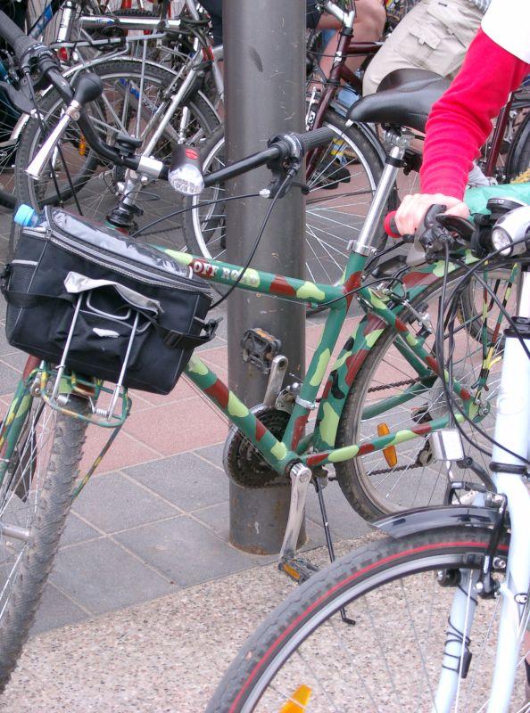 Rower gotowy na wyprawę wojenną