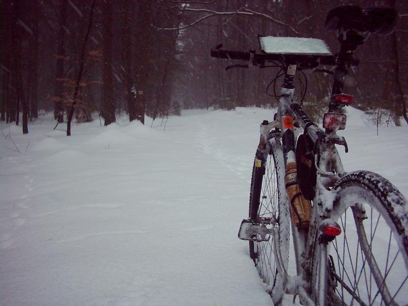 a rower stoi bez podpórki...