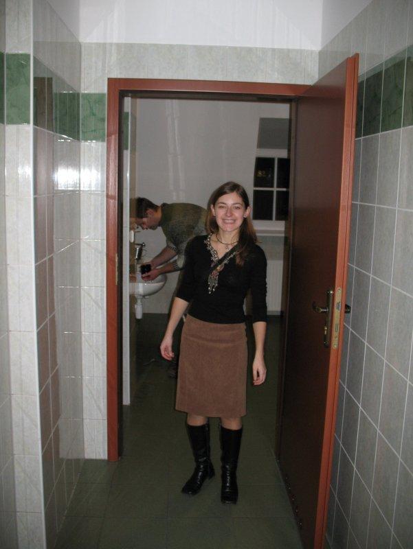Mikołajki tradycyjnie zaczęły się w męskiej toalecie :)