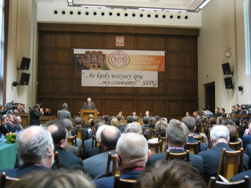 Uroczysta sesja Parlamentu Studenckiego PG