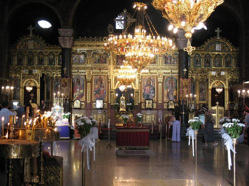 Wnętrze cerkwi św.Niedzieli ( wbrew pozorom Niedziela to imię ).
