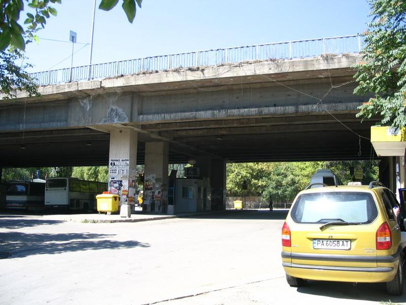 Autobusowy dworzec południowy w Sofii. Niełatwo go było znaleźć :)