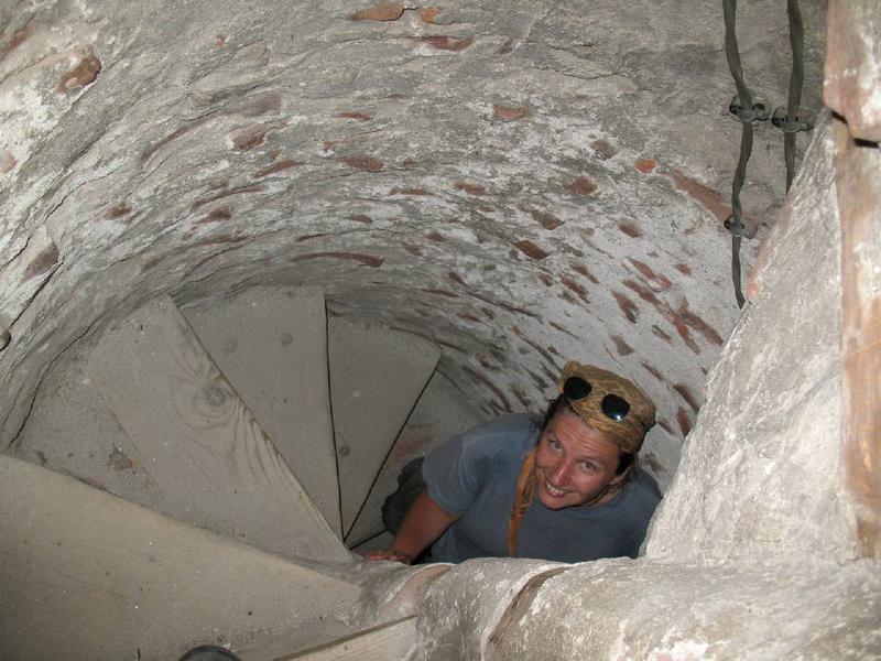 A to wnętrze minaretu. Jakby trochę ciaśniutko.