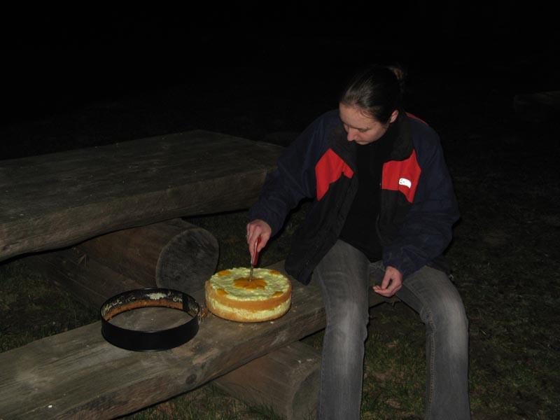 Znikome zainteresowanie tortem...