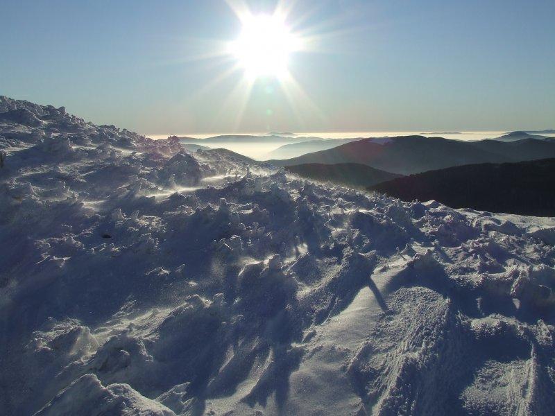 Słońce wiatr i śnieg :D