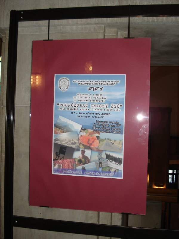 Plakat na wystawie :-)