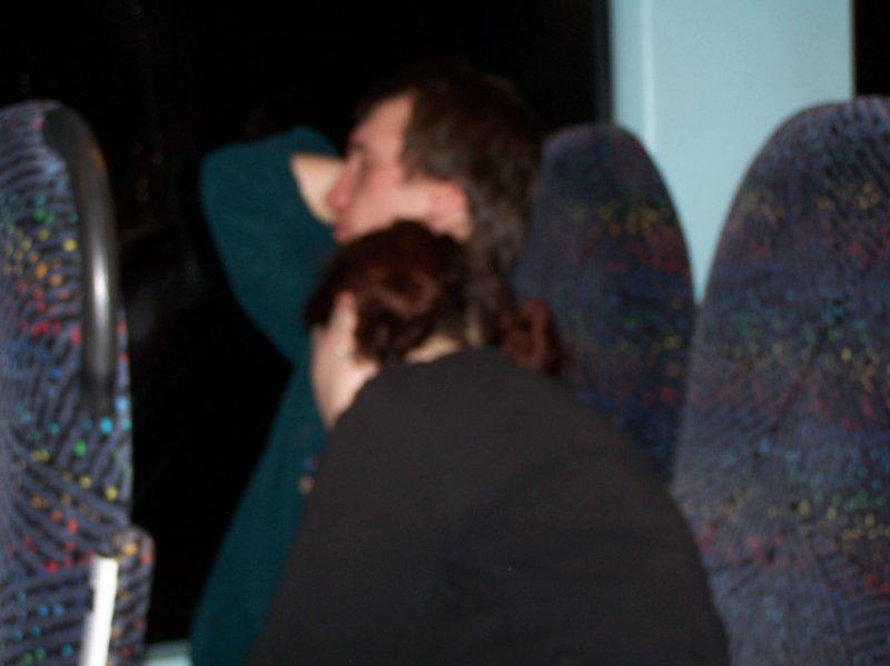 rozmazana śpiąca para ....