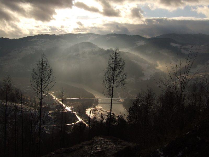 Widok z zamku w Rytrze (31.12.2009)