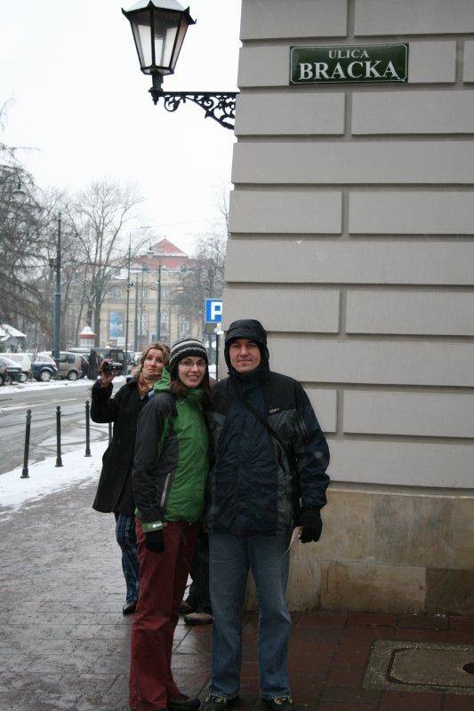 A w Krakowie na brackiej pada...śnieg(by Michał T.)
