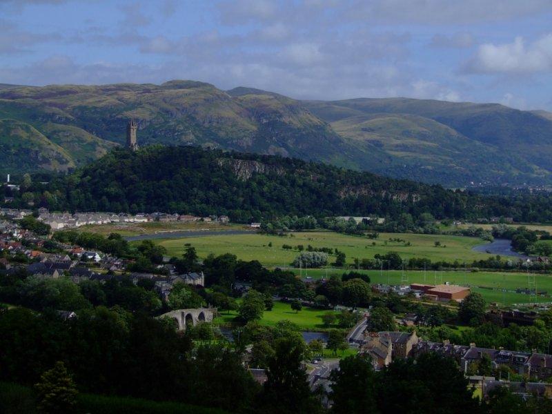 Widok z zamku Stirling