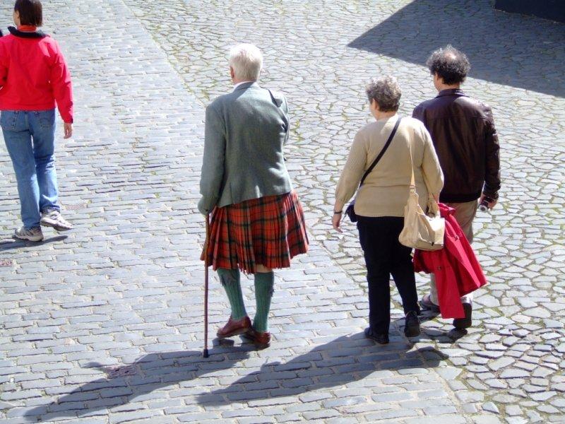 Żeby nie było, że Szkoci nie noszą spódniczek:)