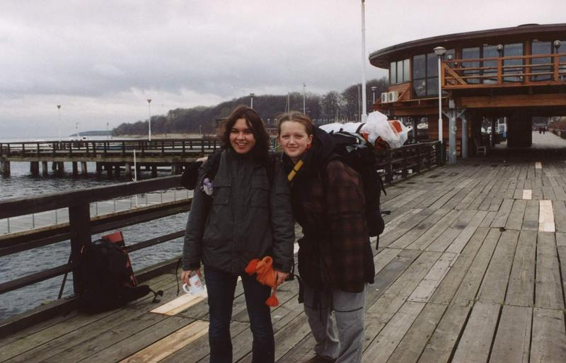 molo w Pucku - Gosia i Justyna
