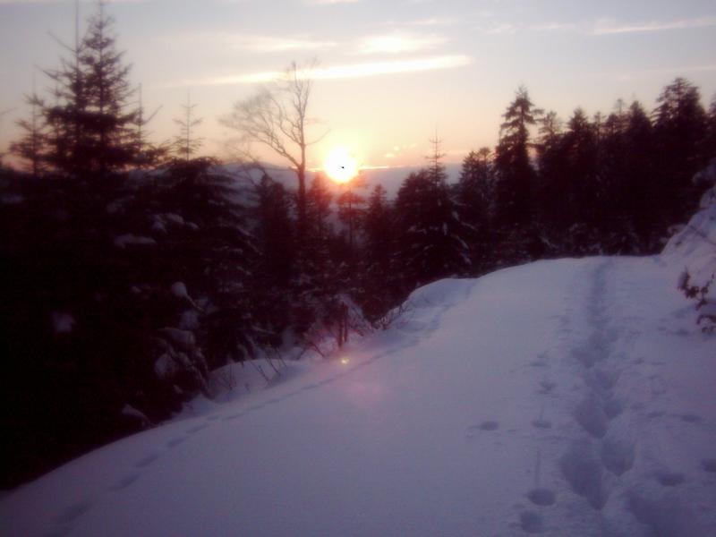 zaparowany zachód słońca