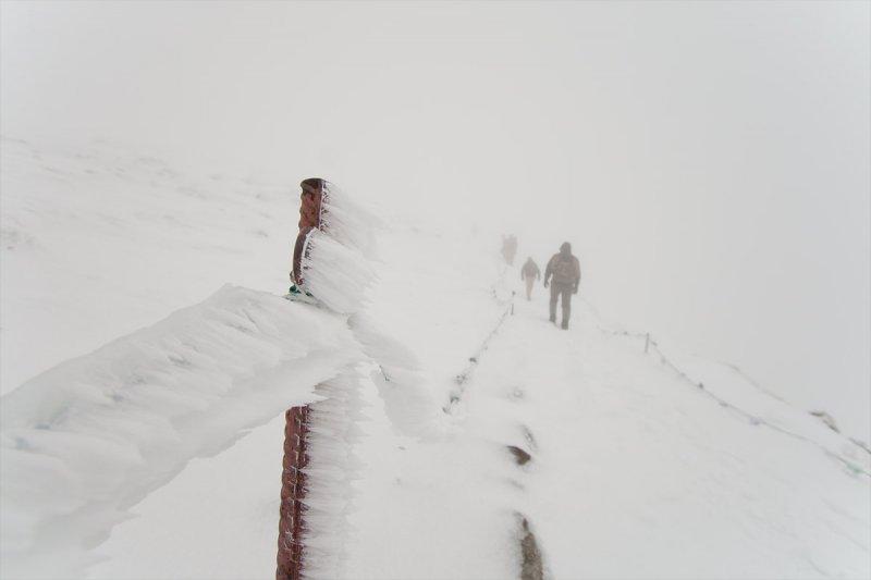 Kasprowy Wierch, czyli 20cm śniegu, -1 st.C. i widoczność:brak